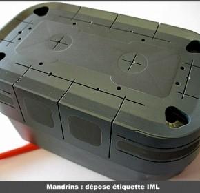 Mandrins : dépose étiquette IML
